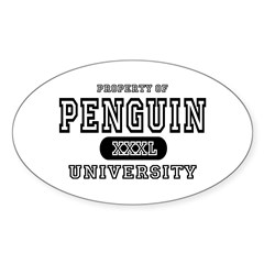 Penguin University Oval Decal