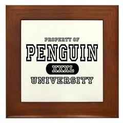 Penguin University Framed Tile
