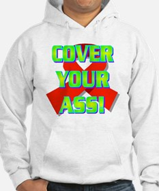 3-COVER YOUR ASS!(white).gif Hoodie