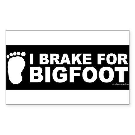 I Brake For Bigfoot (Black) Sticker