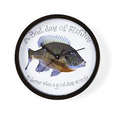 work or fish Wall Clock