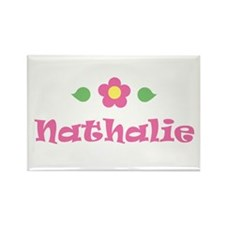 "Pink Daisy - ""Nathalie"" Rectangle Magnet"