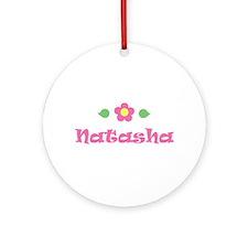 "Pink Daisy - ""Natasha"" Ornament (Round)"