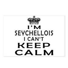 I Am Seychellois I Can Not Keep Calm Postcards (Pa