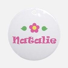 "Pink Daisy - ""Natalie"" Ornament (Round)"