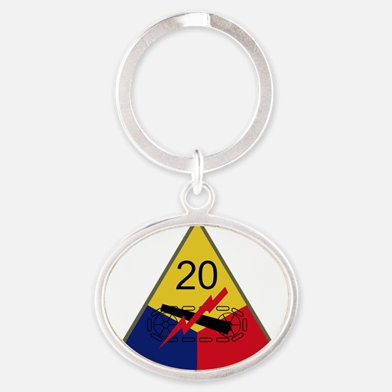 20th Armored Division Oval Keychain