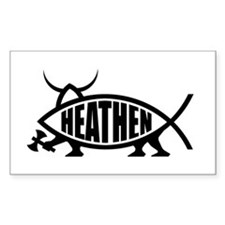 Heathen Fish Rectangle Decal