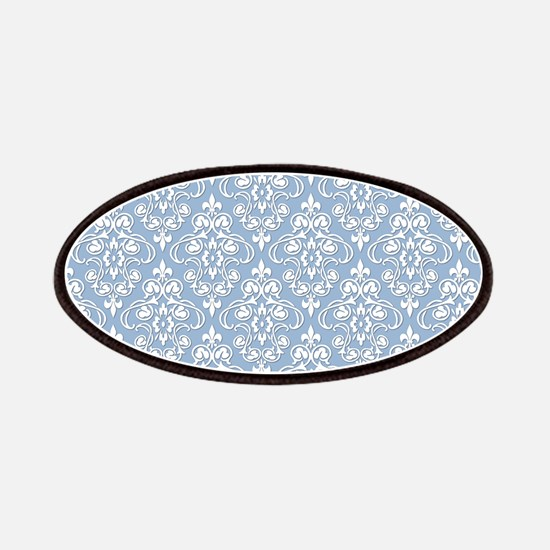 Cerulean Blue & White Damask #36 Patches