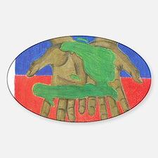 haiti lift Sticker (Oval)