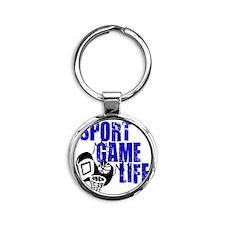 sport game life basketball Round Keychain