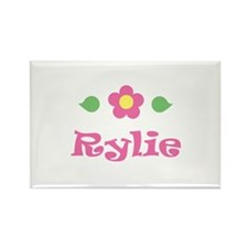 "Pink Daisy - ""Rylie"" Rectangle Magnet"
