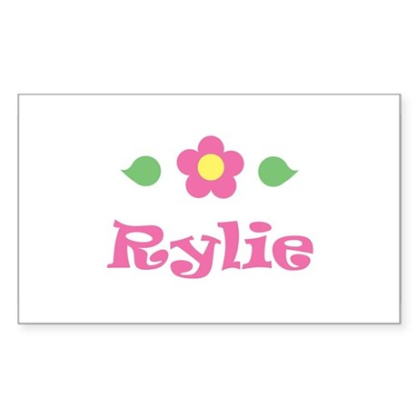 "Pink Daisy - ""Rylie"" Rectangle Sticker"