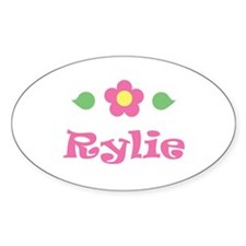 """Pink Daisy - """"Rylie"""" Oval Decal"""