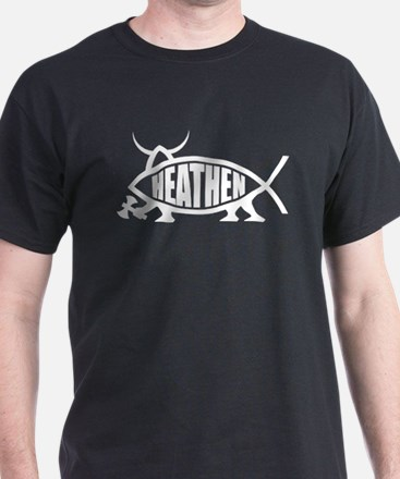Heathen Fish Black T-Shirt