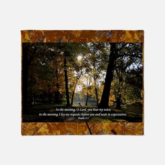 psalm53 Throw Blanket