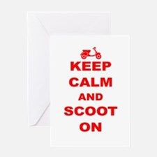 Keep Calm and Scoot On Greeting Card