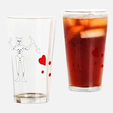 Blackbeard-White Drinking Glass