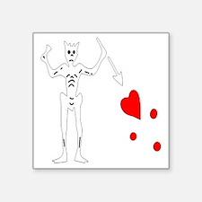 "Blackbeard-White Square Sticker 3"" x 3"""