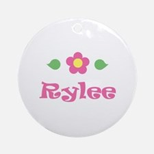 "Pink Daisy - ""Rylee"" Ornament (Round)"