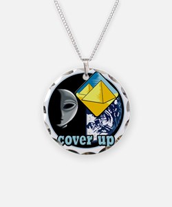 Alien Cover Up Necklace Circle Charm