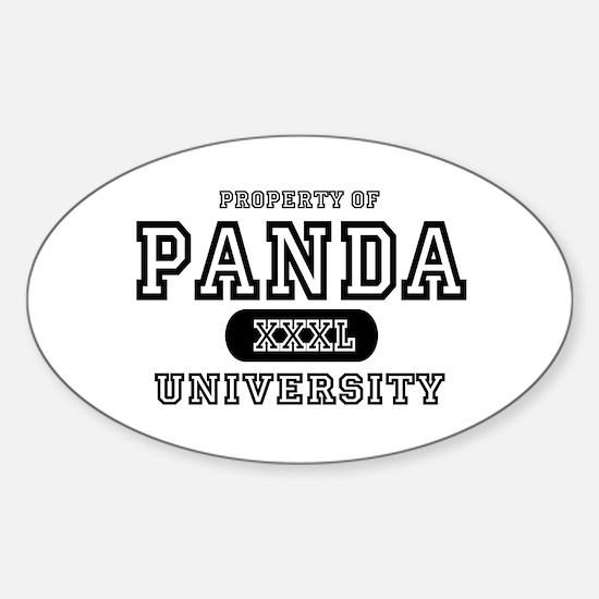 Panda University Oval Decal