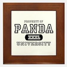 Panda University Framed Tile