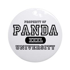 Panda University Ornament (Round)