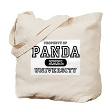 Panda University Tote Bag