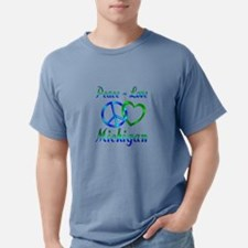 Peace Love Michigan T-Shirt