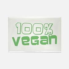 100% Vegan Rectangle Magnet