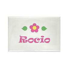 """Pink Daisy - """"Rocio"""" Rectangle Magnet"""