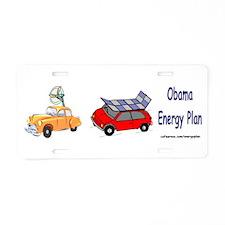Obama Energy Plan Aluminum License Plate