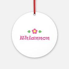 "Pink Daisy - ""Rhiannon"" Ornament (Round)"