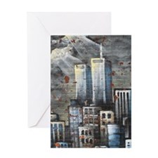 Twin Towers graff II Greeting Card