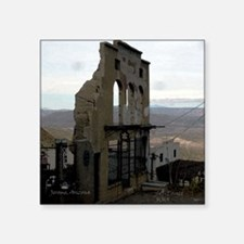 """Ghost Town remains Square Sticker 3"""" x 3"""""""