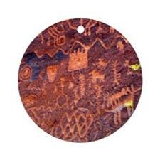 Rock Art Round Ornament