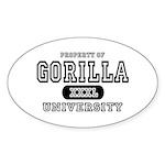 Gorilla University Oval Sticker