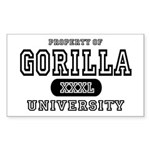 Gorilla University Rectangle Sticker