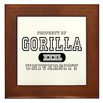 Gorilla University Framed Tile