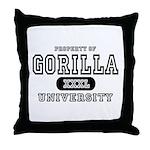 Gorilla University Throw Pillow
