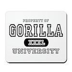 Gorilla University Mousepad