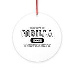 Gorilla University Ornament (Round)