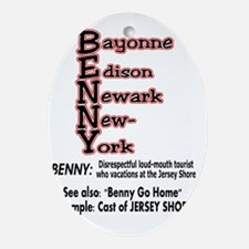 benny go home Oval Ornament