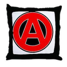 red atheist symbol2 Throw Pillow