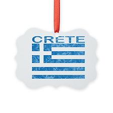 crete_flag_t_shirt Picture Ornament
