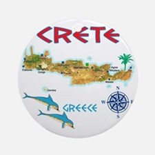 crete_t_Shirt_maP Round Ornament