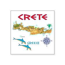 "crete_t_Shirt_maP Square Sticker 3"" x 3"""