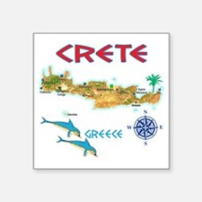 "crete_t_Shirt_maP Square Sticker 3"" x 3"""