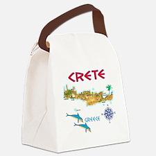 crete_t_Shirt_maP Canvas Lunch Bag