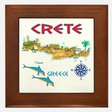 crete_t_Shirt_maP Framed Tile